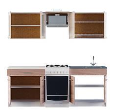 Варіант №2 Кухня ЕКС 2,1 м під накладну мийку, фото 3