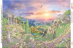 БС 2079 . Схема для вишивки бісером Античний пейзаж