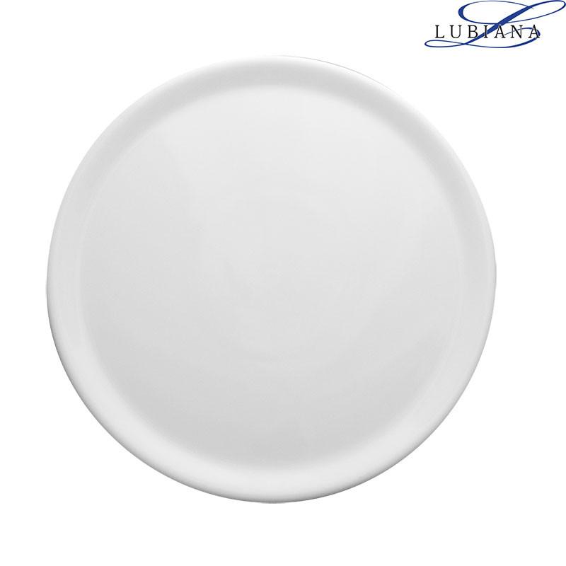 Тарелка фарфоровая плоская Lubiana Tina 305мм для пиццы.