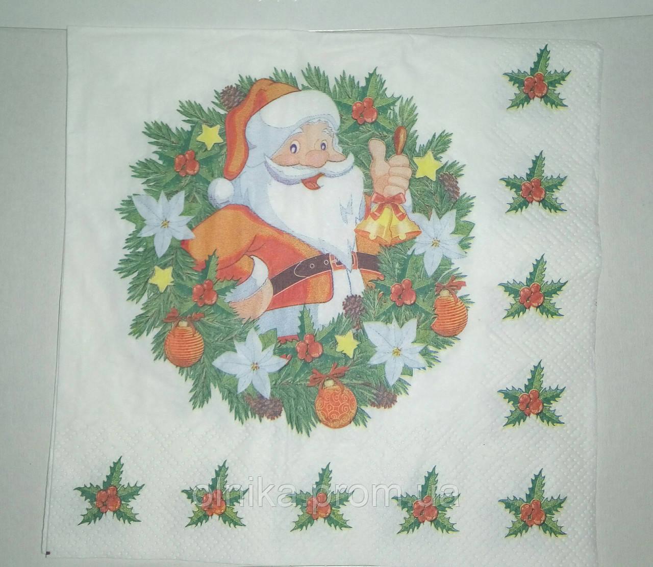 "Салфетка для декупажа ""Санта"""