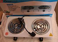 Электроплита настольная двухконфорочная плита MS-5802, тэновая