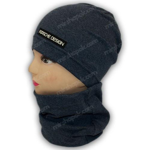 Детская трикотажная шапка с хомутом