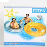 Надувной круг-кресло с ручками 119см, Intex