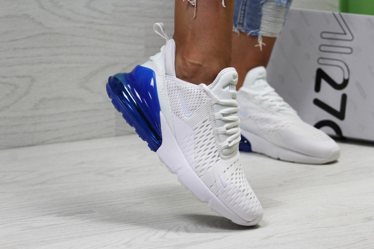 2b70af6b Летние женские кроссовки Nike Air Max 270,сетка,белые с синим 36р ...