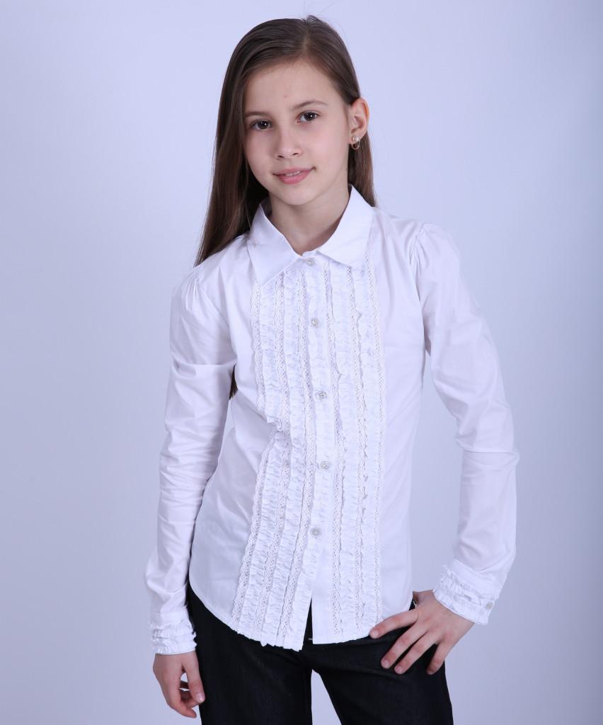 Блуза школьная для девочки 1862, 116-146
