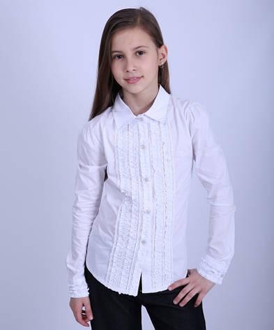 Блуза школьная для девочки 1862, 116-146, фото 2