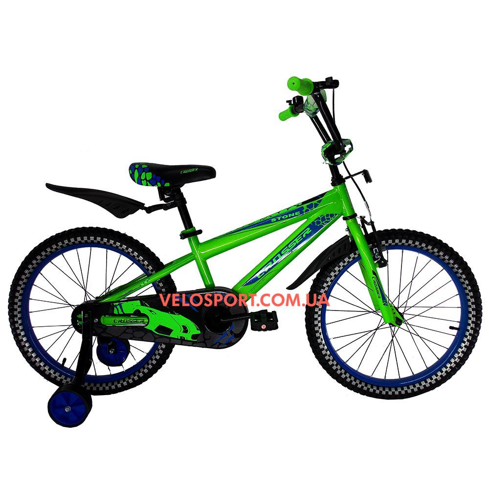 Детский велосипед Crosser Stone 20 дюймов зеленый