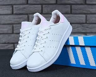 "Женские кроссовки Adidas Stan Smith ""White/Pink"" (люкс копия)"