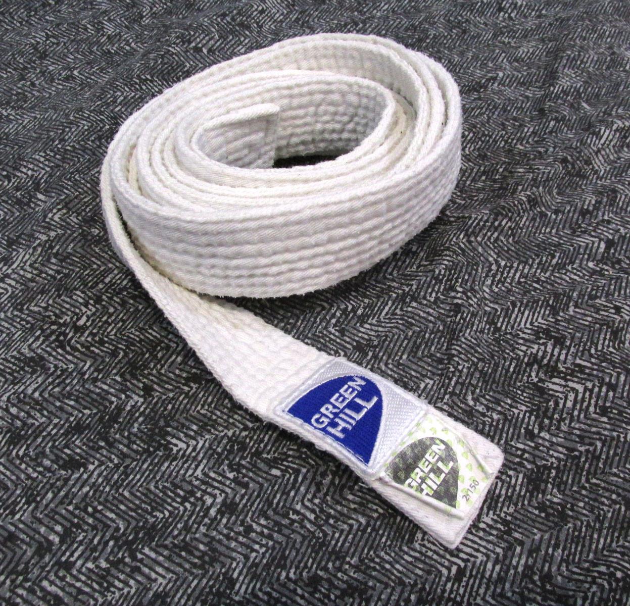 Пояс кимоно Green Hill, 2-150, (220x3.5 см), cotton, Pakistan, следы н