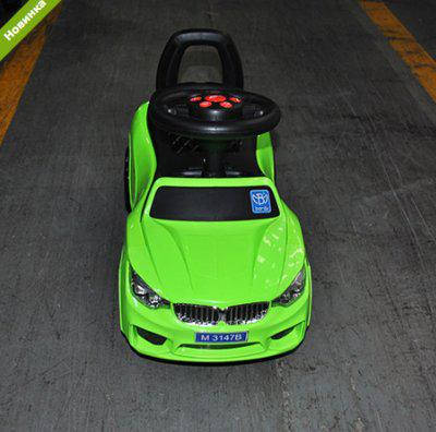 Tолокар BMW (зеленый) MP3, свет фар, музыка, фото 2