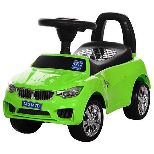 Tолокар BMW (зеленый) MP3, свет фар, музыка