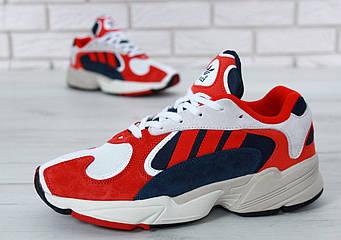 "Мужские кроссовки Adidas Yung - 1 ""White/Red"" (люкс копия)"