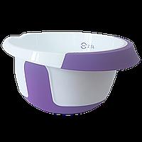 Ємність для міксера 2,5 л біло-фіолетова