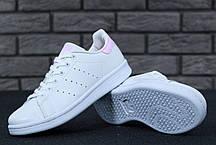 Женские кроссовки AD Stan Smith White Pink, А-д . ТОП Реплика ААА класса., фото 3