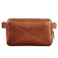 a915b322eba5 Кожаная сумка поясная BlankNote Dropbag Maxi Коньяк BN-BAG-20-k светло-