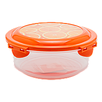 Контейнер 0,7 л прозрачно-оранжевый