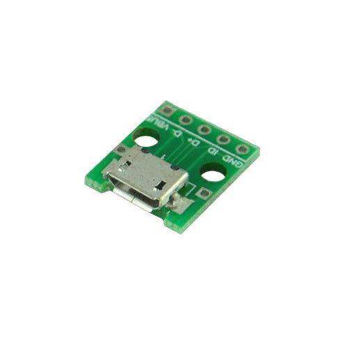 Плата перехідник microUSB мама - DIP 5pin 2.54 мм