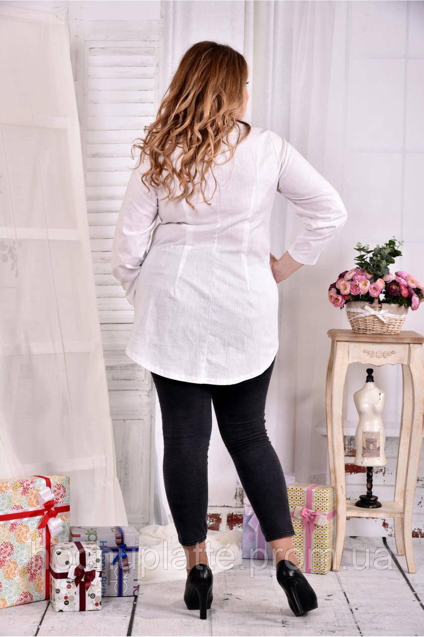 e750e948957 Блузка из льна 0541-2 молоко  продажа