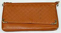 Клатч женский коричневый сделанный из искусственой кожи, фото 1