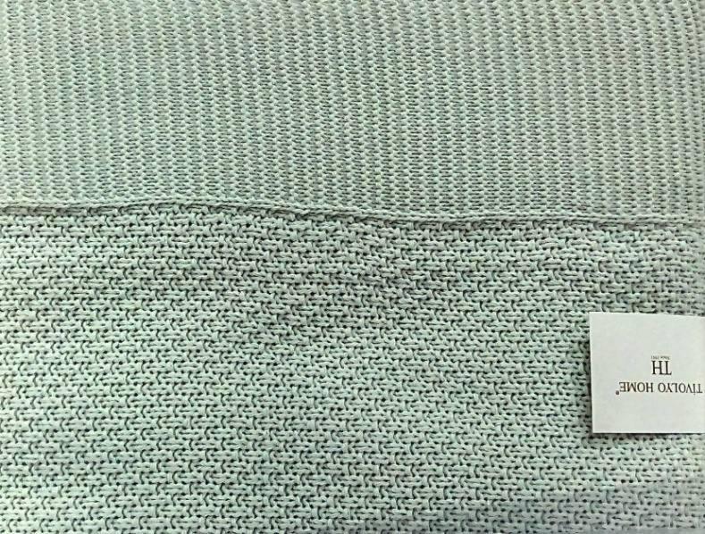 Плед вязаный Tivolyo Home SERA Зеленый  (приглушенный) 220*250