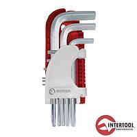 Набор Г-образных шестигранных ключей 9 шт., 1.5-10 мм, S2, PROF HT-1803