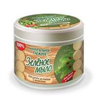 Натуральное таежное зеленое мыло для бани и душа для ухода за телом и волосами Формула: 38