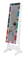 Напольное зеркало в раме TK 003 с нишей для белья. Радуга (Лотос-М)