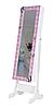Напольное зеркало в раме TK 011 с нишей для белья. Бабочки (Лотос-М)
