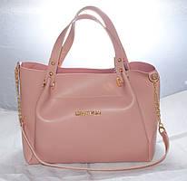 Женская сумкаMісhаеl Коrs (в стиле Майкл Корс), розовая ( код: IBG088P )