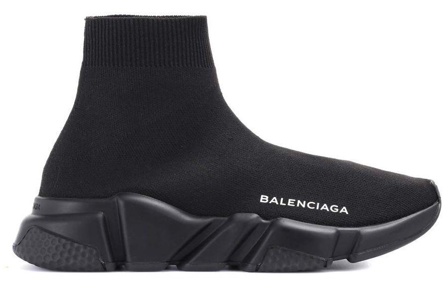 Женские кроссовки Balenciaga Speed Trainer (Баленсиага) черные