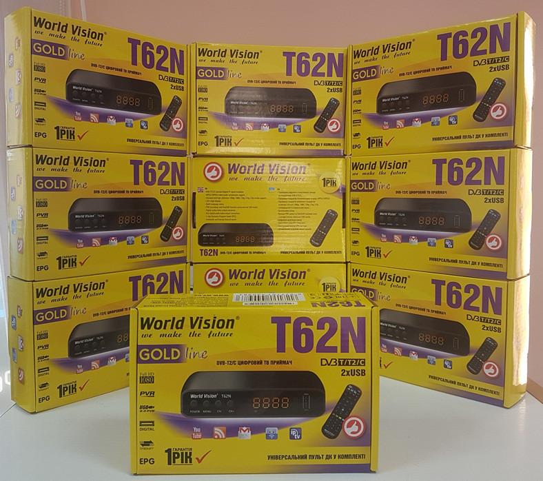 Цифровой эфирный DVB-T2 тюнер приставка ресивер приемник декодер World Vision T62N Гарантия 1 год IPTV YouTube