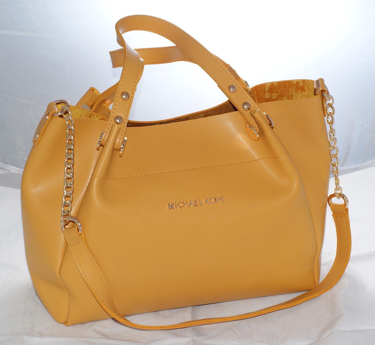 4dce7a37d0e7 Женская сумка Michael Kors (Майкл Корс), желтая  продажа, цена в ...