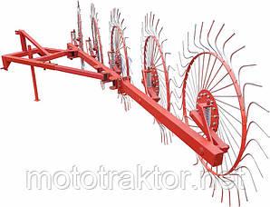 Грабли ворошилки для минитрактора солнышко (5 колес)