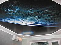 Фотопечать на натяжных потолках  космос и планеты