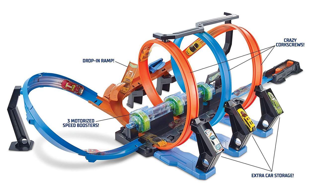 Трек Хот Вилс Невероятные виражи Тройная петля Hot Wheels Corkscrew Crash Track Set