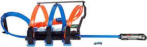 Трек Хот Вилс Невероятные виражи Тройная петля Hot Wheels Corkscrew Crash Track Set, фото 2