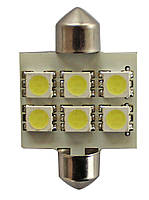 SCT 210148 Лампочки C5W/10W LED 12V 6*5050 T11*31 (10)