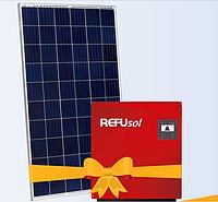 """Солнечная электростанция 10 кВт под """"Зеленый тариф"""", комплект RSM60-6-260Р 4BB, инвертор REFUsol"""