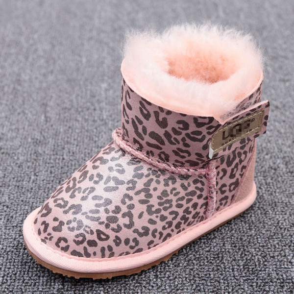 Детские угги (UGG Australia Kid's) розовые леопард 11,5см-16см