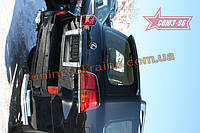 """Защита задняя """"уголки"""" d 76/42 двойные (компл 2шт.) Союз 96 на Lexus LX 570 Sport 2010-2013"""