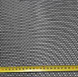 Защитно декоративная сетка для бампера и радиатора Sahler №1, 100*20 см,  черная, фото 3