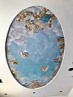 Натяжные потолки на тему ангелы, религия, фрески