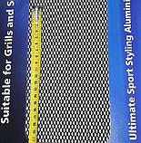 Защитно декоративная сетка для бампера и радиатора Sahler №2, 100*20 см  черная, фото 3