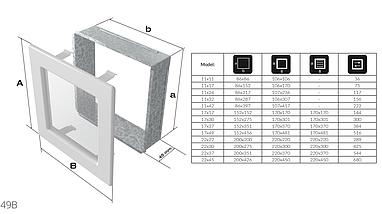 Вентиляционная решетка для камина KRATKI 17х17 см графитовая с жалюзи, фото 3
