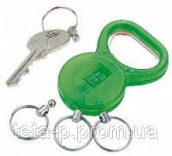 Брелок-открывалка для нанесения логотипа, зеленый