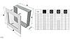 Вентиляционная решетка для камина KRATKI 22х22 см графитовая с жалюзи, фото 3