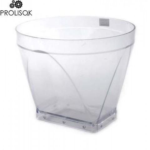 Прямая, прозрачная, пластиковая корзина, наружный диаметр 440 мм VDL Agrotech
