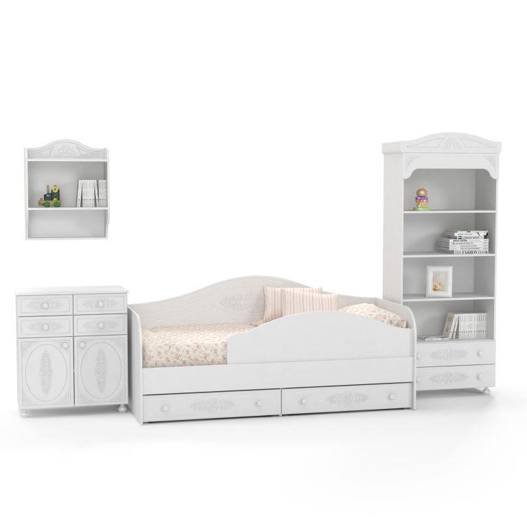 Мебель для детской спальни  Ассоль компоновка 2