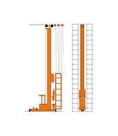 Кран-штабелер стеллажный с ручным управлением из кабины СР-0,5: 1,0