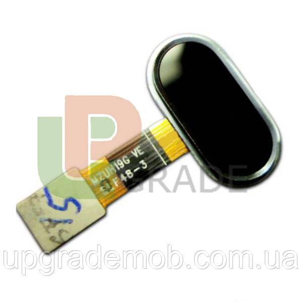 Шлейф Meizu M5s (M612), з кнопкою меню (Home), чорного кольору